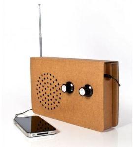 radio en carton